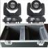 ROBOT CABEZA MOVIL 7R BEAM GLOWING GL-MS001B SET 02 UNIDADES CON CASE