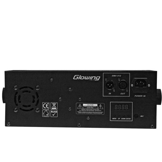 EFECTO LED LASER - STROBO - GOBOS - TIPO DERBY GL-LED003 GLOWING