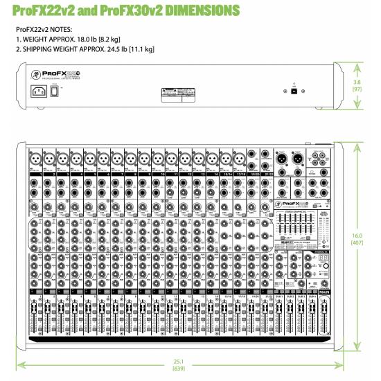 MEZCLADOR MACKIE PRO FX22 V2