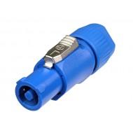 Conector PowerCON 20A Neutrik azul