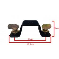 Omega clamp para cabeza movil con soporte para giro metalico