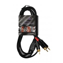Cable Mini-plug –  2 RCA Prodb 1,5 metros