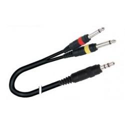Cable Miniplug estereo a dos plug ¼ mono  5 MTRS PRODB