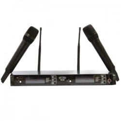 Micrófono inalambrico doble de mano PRODB QR-802