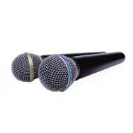 Sistema Inalámbrico VHF con 2 microfonos de mano Prodb