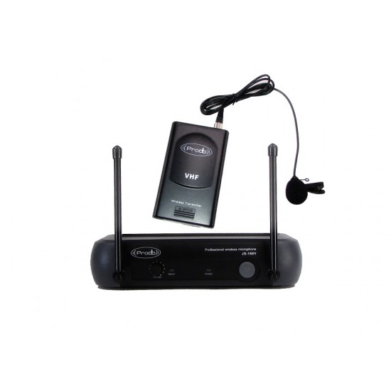 Sistema Inalámbrico VHF con microfono de lavalier Prodb
