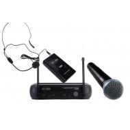 Sistema Inalámbrico VHF con microfonos de mano-cintillo Prodb