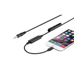 Cable adaptador mini plug a conector lightning Saramonic UTC-C35