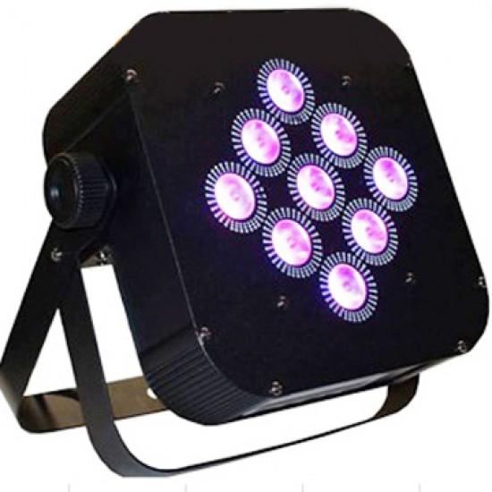 Par LED slim 9x10w 4 en 1