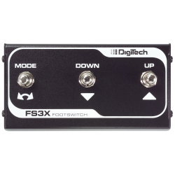 Pedal Footswitch de 3 botones Digitech FS3X