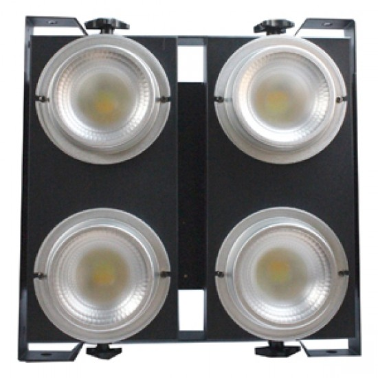 BLINDER LED BLANCO CALIDO Y FRIO 4 X 100 Watts Glowing