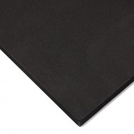 Plancha Goma Eva alta densidad Negra 8 mm