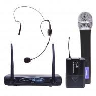 Sistema Inalámbrico UHF con microfonos de mano y cintillo Prodb