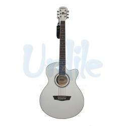 Guitarra Electroacustica Washburn EA12W A BLANCA