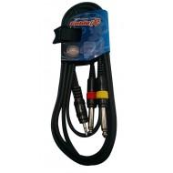 Cable Miniplug estereo a dos plug ¼ mono 2 MTRS   CABLELAB