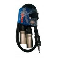 Cable Miniplug estereo a dos XLR macho 1 MTR   CABLELAB