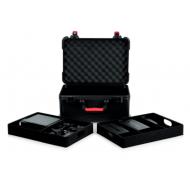 Case Gator de fibra para 7 micrófonos inalambricos y accesorios.