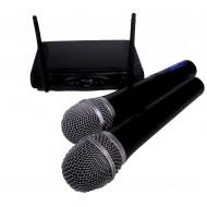 Sistema Inalámbrico UHF con 2 microfonos de mano Prodb
