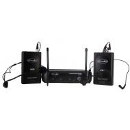 Sistema Inalámbrico VHF con 2 microfonos cintillo Prodb