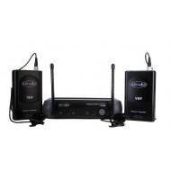 Sistema Inalámbrico VHF con 2 microfonos lavalier Prodb