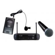 Sistema Inalámbrico VHF con microfonos de mano-lavalier Prodb