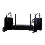 Sistema Inalámbrico UHF con 2 microfonos de lavalier Prodb